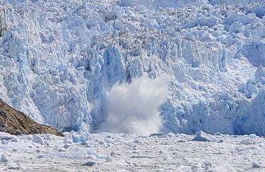 Glacial ice calving into the water, Sawyer Glacier, Tracy Arm Fjord, Alaska  -  Matthias Breiter