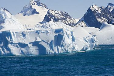 Glacier and mountain range, South Georgia Island  -  Flip  Nicklin