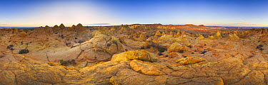 Sandstone formations of pinnacles, buttes and ravines, Coyote Buttes, Arizona  -  Yva Momatiuk & John Eastcott