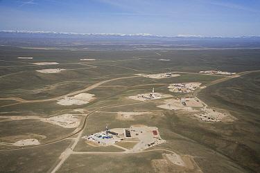 Natural gas drill platforms, Pinedale, Wyoming  -  Matthias Breiter