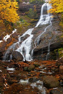 Beulach Ban Falls, north Aspy River valley, Cape Breton Highlands National Park, Nova Scotia, Canada  -  Scott Leslie