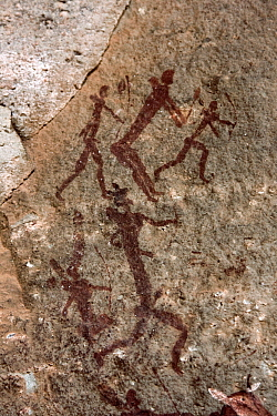 Bushman rock paintings in the Drakensberg Mountains, Giant's Castle Nature Reserve, South Africa  -  Vincent Grafhorst