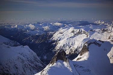 Peaks towering above LeConte Bay near Petersburg, Tongass National Forest, Alaska  -  Matthias Breiter