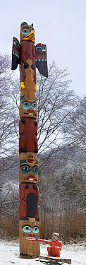 Tlingit Totem Pole at Saxman Native Village, Ketchikan, Alaska  -  Matthias Breiter