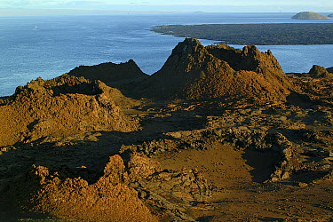 Volcanic formations, Bartolome Island, Galapagos Islands, Ecuador  -  Murray Cooper