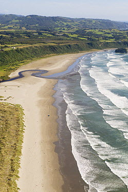 Coastal beach, Chiloe Island, Chile  -  Kevin Schafer