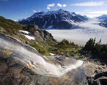 Snow melt and Salmon Glacier, British Columbia, Canada  -  Matthias Breiter