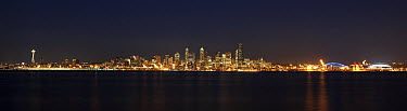Seattle at night, Seattle, Washington  -  Matthias Breiter