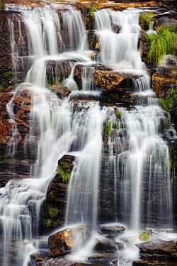 Waterfall, Cerrado ecosystem, Chapada dos Veadeiros National Park, Goias State, Brazil  -  Luciano Candisani