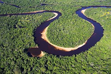 Rio Negro in dry season, Pantanal, Brazil  -  Luciano Candisani