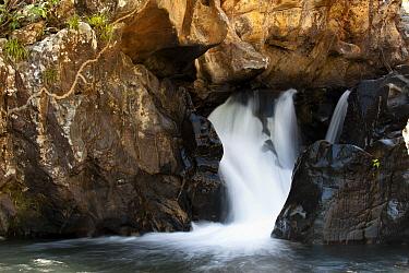 Waterfall, Cerrado ecosystem, Serra do Tombador, Goias State, Brazil  -  Luciano Candisani