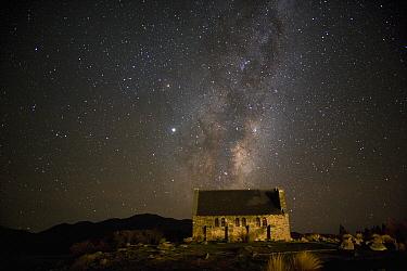 Church of the Good Shepherd underneath the Milky Way, New Zealand  -  Fraser Gunn/ Hedgehog House