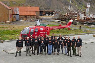 Ingo Arndt and team rat for South Georgia Heritage Trust Rat Eradication Project, Grytviken, South Georgia Island  -  Ingo Arndt