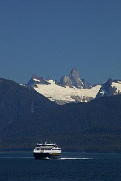 Catamaran ferry of the Alaska Marine Highway arriving in Petersburg, Stikine-LeConte Wilderness, Alaska  -  Matthias Breiter