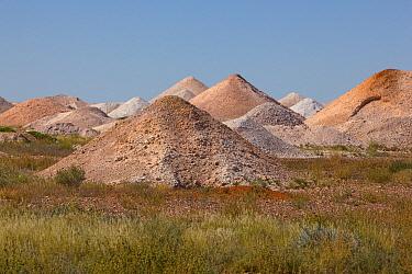 Mine tailings from years of mining for opals near Coober Pedy, South Australia, Australia  -  Yva Momatiuk & John Eastcott