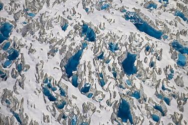 Meltwater lakes on Hubbard Glacier, Wrangell-St. Elias National Park, Alaska  -  Matthias Breiter