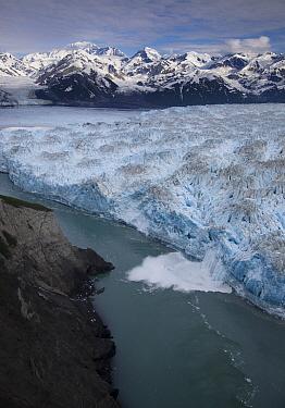 Hubbard Glacier encroaching on Gilbert Point, Wrangell-St. Elias National Park, Alaska  -  Matthias Breiter