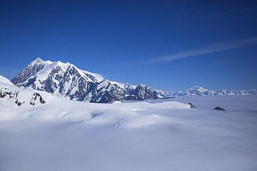 Cloud-covered bowl of the upper Hubbard Glacier, Wrangell-St. Elias National Park, Alaska  -  Matthias Breiter