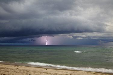 Thunderstorm over Lake Tanganyika, Mahale Mountains National Park, Tanzania  -  Konrad Wothe