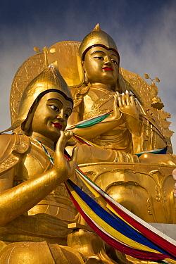Buddha statues, Amarbayasgalant Monastery, Selenge, northern Mongolia  -  Colin Monteath/ Hedgehog House