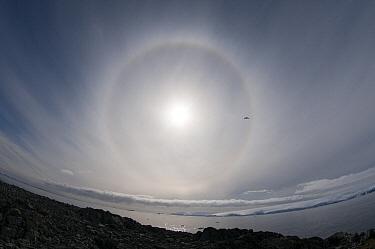 Sundog, also known as mock suns, Antarctic Peninsula, Antarctica  -  Norbert Wu