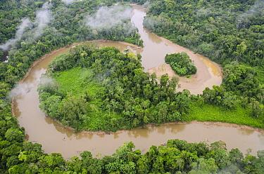 Tiputini River and rainforest, Yasuni National Park, Amazon, Ecuador  -  Pete Oxford