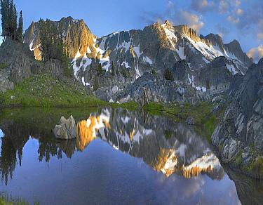 Reflections in Wasco Lake, Twenty Lakes Basin, Sierra Nevada, California  -  Tim Fitzharris