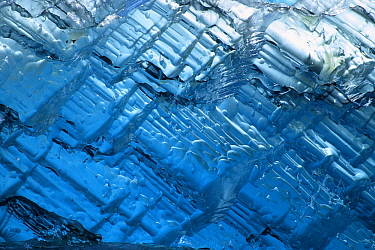 Ice compressed by glacier collapse, Alaska  -  Klein and Hubert