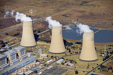 Lethabo Power Station, coal-fired electrical plant operated by Eskom, South Africa  -  Richard Du Toit