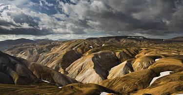 Highlands near Mount Hrafntinnusker, Laugavegur Trail, Fjallabak Nature Reserve, South Iceland, Iceland  -  Rob Brown/ Hedgehog House
