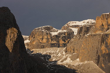 Canazei Valley and Fassa Valley with Sass Pordoi, Dolomites, Italy  -  Ingo Arndt