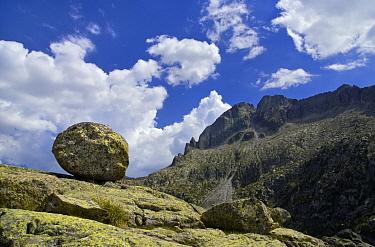 Granite boulder, Aiguestortes I Estany de Sant Maurici National Park, Pyrenees, Catalonia, Spain  -  Albert Lleal
