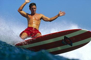 Surfer know as 'Wingnut, ' Santa Cruz, California  -  Bob Barbour
