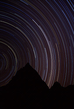 Stars including Alpha Beta, Centauri and the Southern Cross, Spitzkop, Damaraland, Namibia  -  Michael & Patricia Fogden