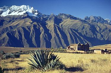 Spanish colonial church in Sacred Valley of the Incas, Urubamba, Peru  -  Michael & Patricia Fogden