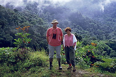 Michael and Patricia Fogden at the Continental Divide, Monteverde Cloud Forest Reserve, Costa Rica  -  Michael & Patricia Fogden