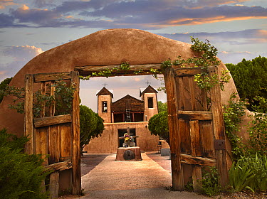 Church and gate, El Santuario de Chimayo, New Mexico  -  Tim Fitzharris
