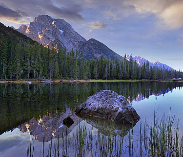 Mount Moran and String Lake, Grand Teton National Park, Wyoming  -  Tim Fitzharris
