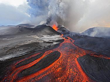 Tolbachik Volcano erupting, Kamchatka, Russia  -  Sergey Gorshkov