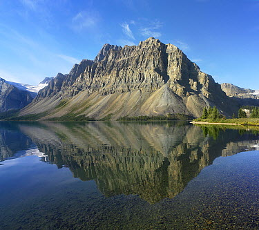 Bow Lake and Crowfoot Mountains, Banff National Park, Alberta, Canada  -  Tim Fitzharris