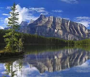 Mount Rundle and Johnson Lake, Banff National Park, Alberta, Canada  -  Tim Fitzharris