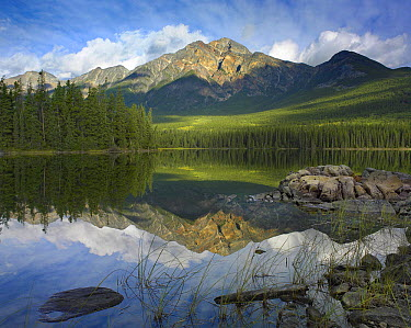 Pyramid Mountain and Pyramid Lake, Jasper National Park, Alberta, Canada  -  Tim Fitzharris