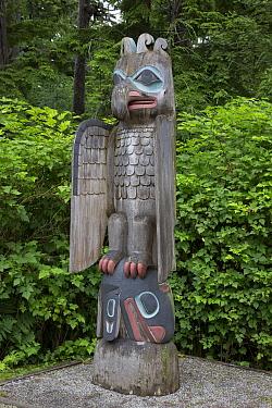 Thunderbird and Whale Totem, a Haida mortuary pole, Totem Bight State Historical Park, Ketchikan, Alaska  -  Matthias Breiter