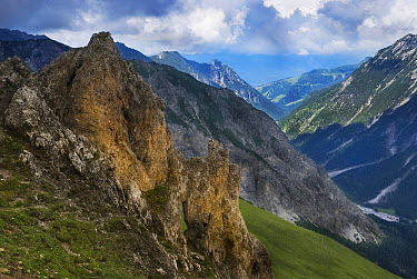 View from Furstin Gina trail in the Alps, Lichtenstein, Austria  -  Misja Smits/ Buiten-beeld
