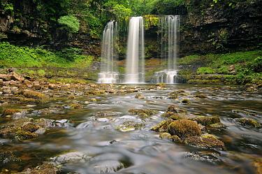 Waterfall Sgwd yr Eira, Brecon Beacons National Park, Wales  -  Bendiks Westerink/ Buiten-beeld