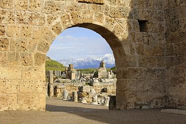Ruins of Perge, Greek and Roman city, Anatolia, Turkey  -  Natalia Paklina/ Buiten-beeld