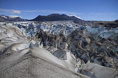 Crevasses of Viedma Glacier, Viedma Lake, Argentina  -  Lex van Groningen/ Buiten-beeld