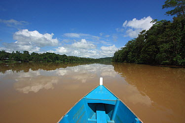 Canoeing on Kinabatangan River, Sabah, Borneo, Malaysia  -  Hiroya Minakuchi