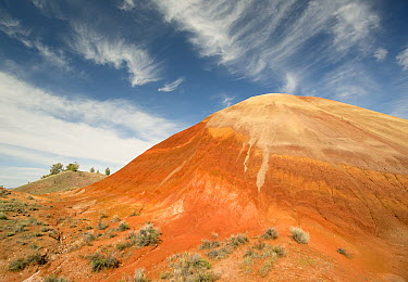 Bentonite clay deposits, Painted Hills, John Day National Monument, Oregon  -  Kevin Schafer