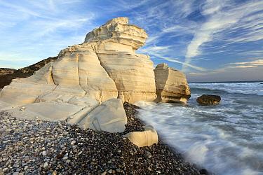 Chalk rocks on coast, Cyprus  -  Duncan Usher
